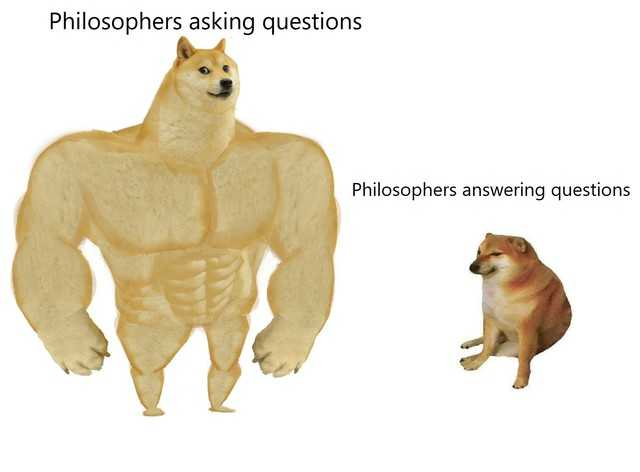 Philosophers when asking question vs Philosophers when answering them